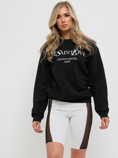 Gracie Ye Saint Love Sweatshirt Jumper In Black