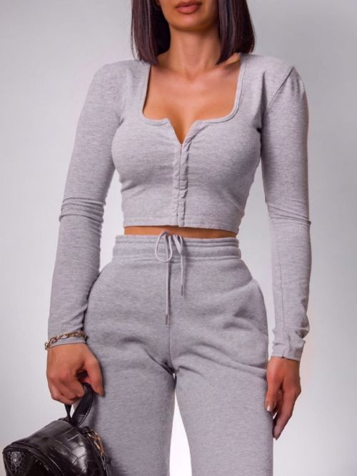 Katie Slim Fit Joggers In Grey