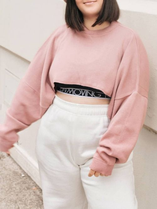 Callie Cropped Batwing Knitted Jumper In Rose Gold