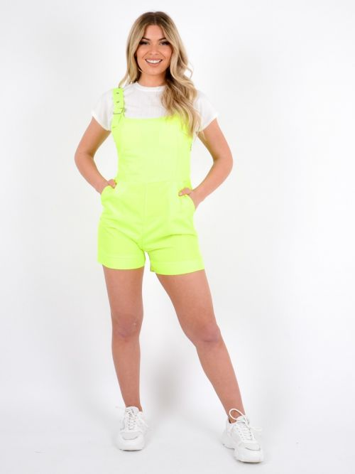Lissy Festival Salopet Playsuit In Neon Green