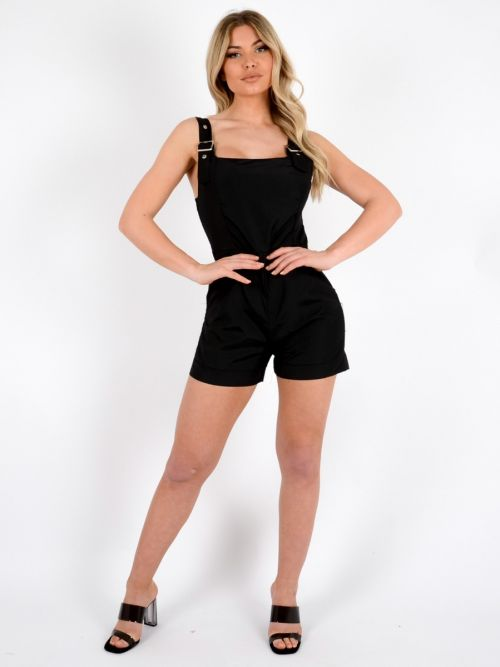 Lissy Festival Salopet Playsuit In Black