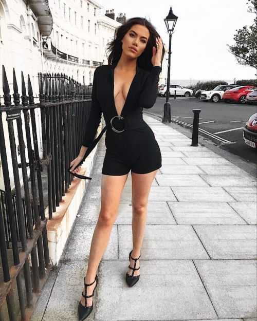 *Louise Thompson* Londyn Ring Belt Playsuit In Black