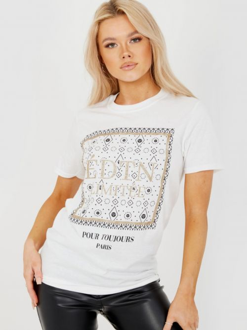 Serina EDTN LIMITEE Graphic Printed T-Shirt In White