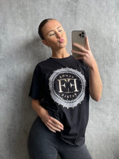 Zakky Femme Fatale Graphic Printed T-Shirt In Black