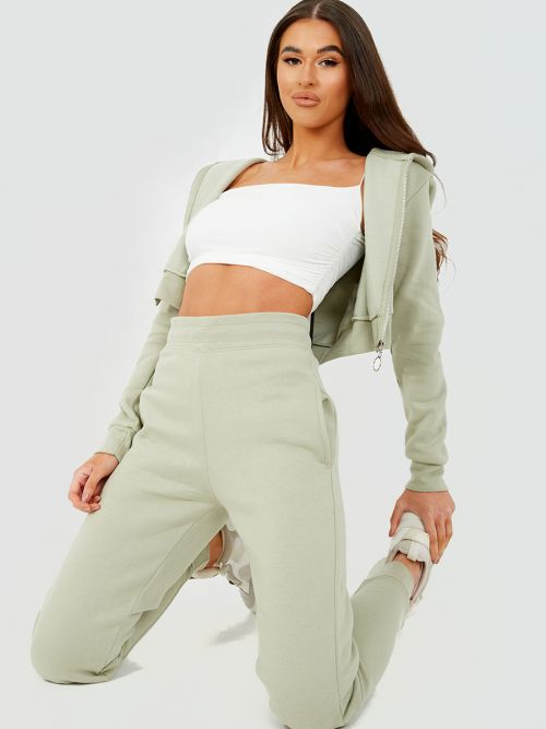 Tina Zip Hoodie & Jogger Co-ord In Green