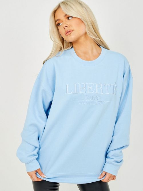 Debra Embroidered Liberte Sweatshirt Jumper In Blue