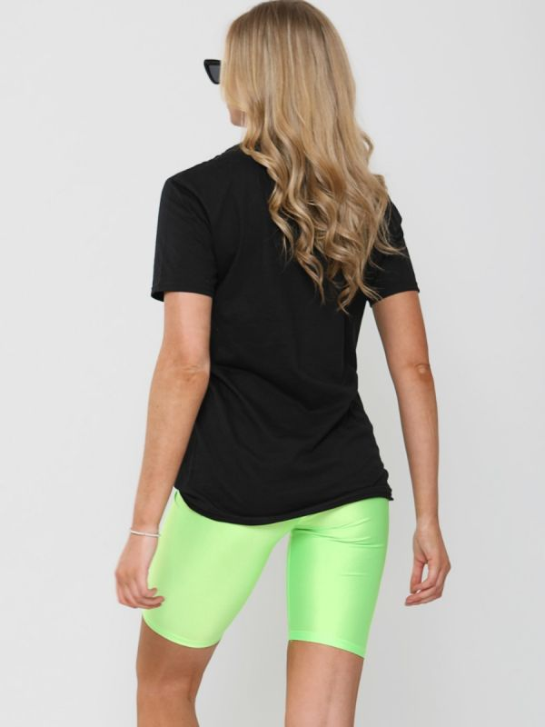 Becky Lip Graphic Printed T-Shirt In Black