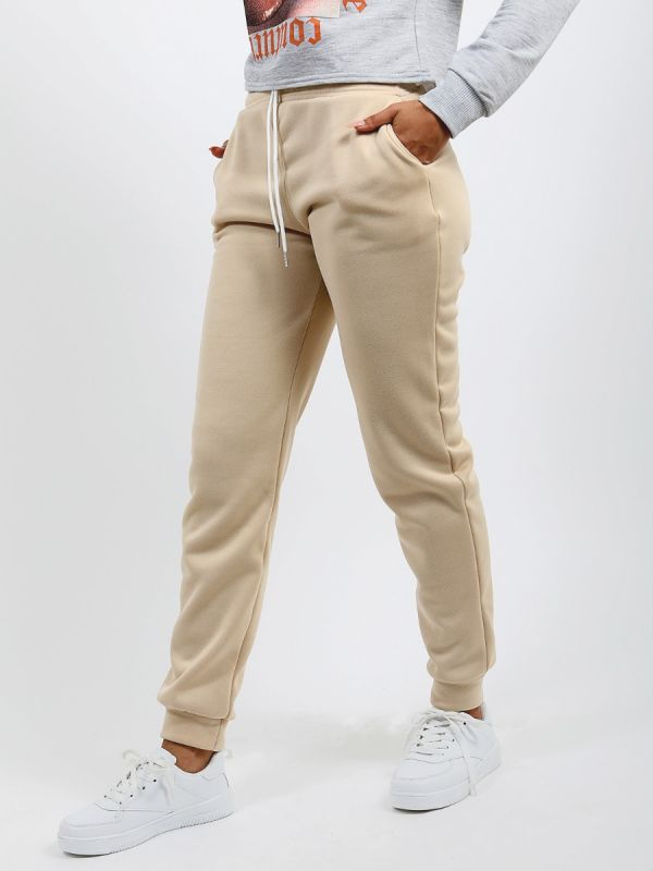 Katie Slim Fit Joggers In Stone