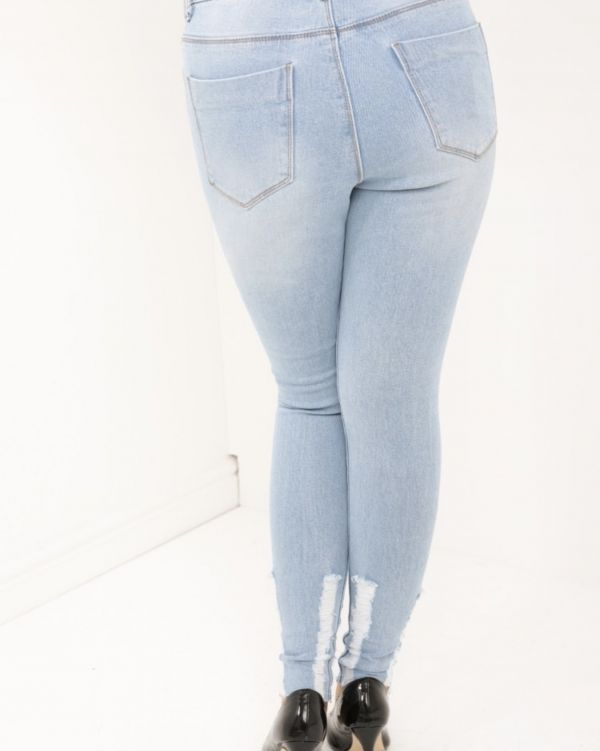 Alivia Slim Fit Denim Jeans In Blue