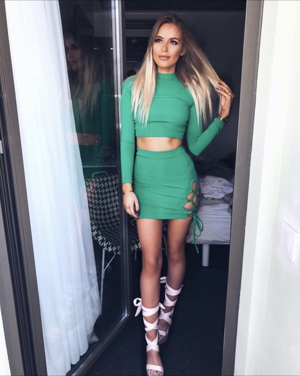Olivia Buckland co-ord in green
