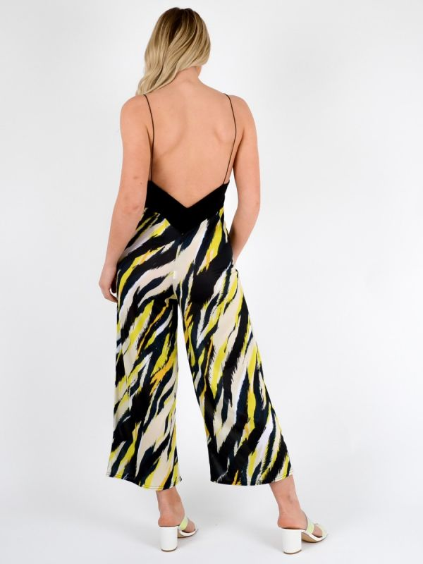 Molly Tiger Print Backless Jumpsuit