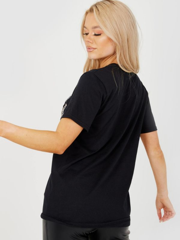 Serina EDTN LIMITEE Graphic Printed T-Shirt In Black