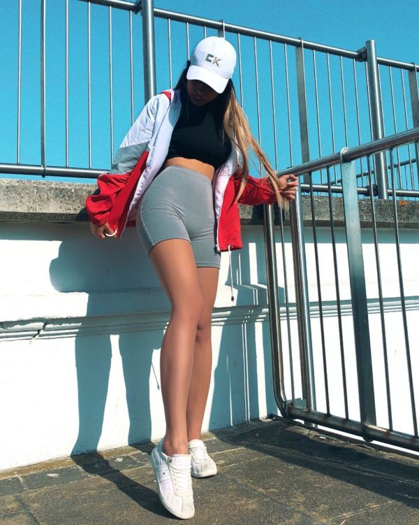 Leilani Colour Block Festival Jacket In Red