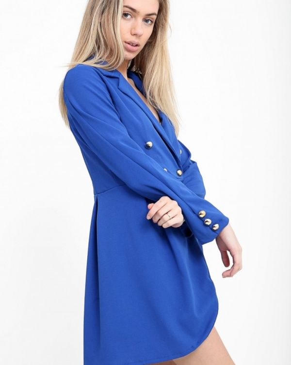 Meaghan Blazer Dress In Blue