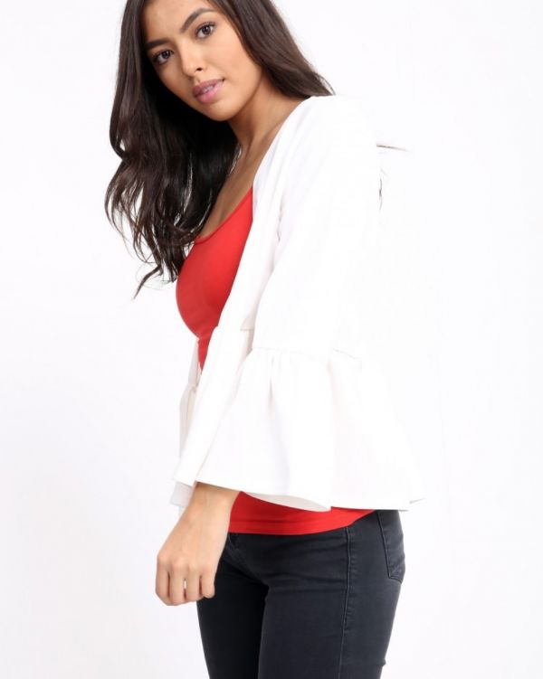 Nataly Gypsy Blazer In Cream