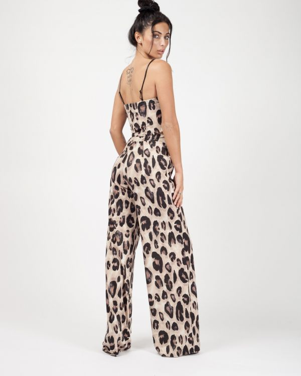 Dixie Lurex Leopard Print Co-ord In Stone