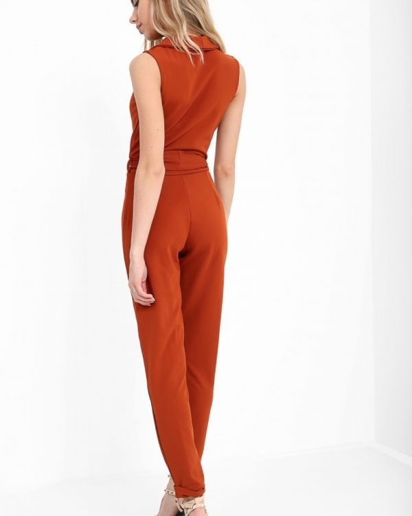 **Kady McDermott** Atia Tux Style Jumpsuit In Rust