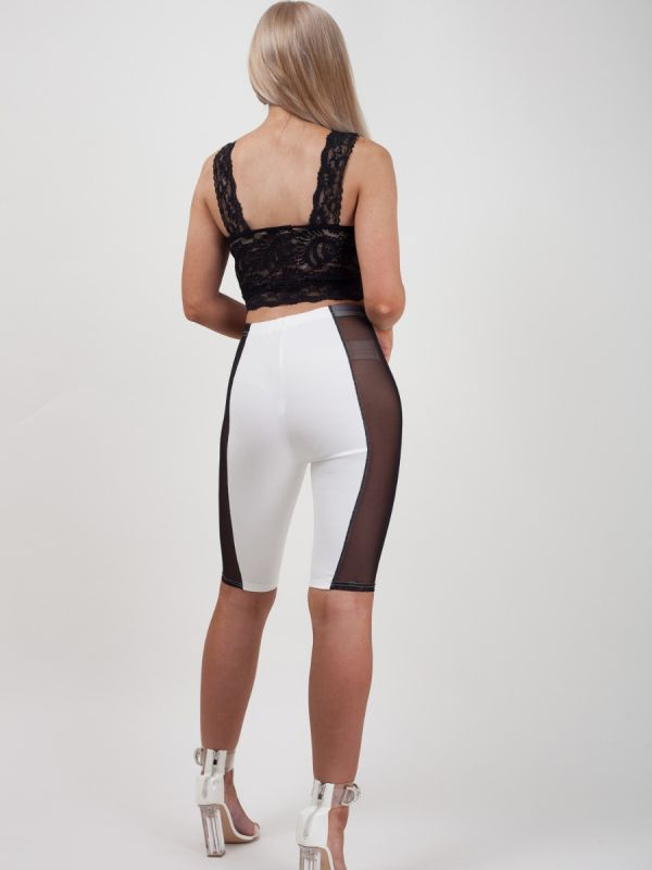 Eden Mesh Insert Cycling Shorts In Cream