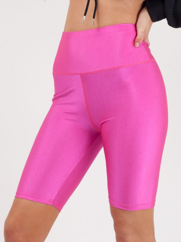 Frankie Satin Cycling Shorts In Pink