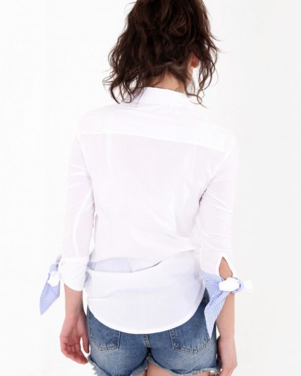 Aimee Rose Embroidered Blouse In White
