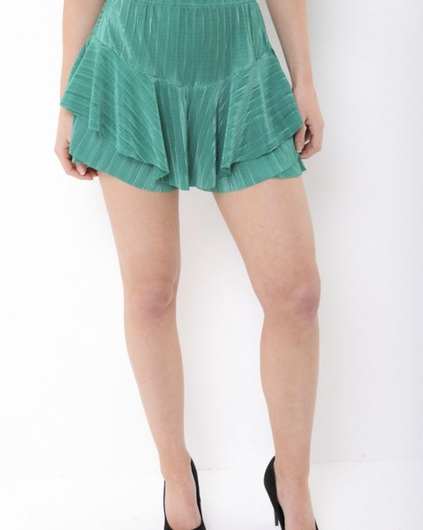 Ryleigh Layered Frill Skorts In Green