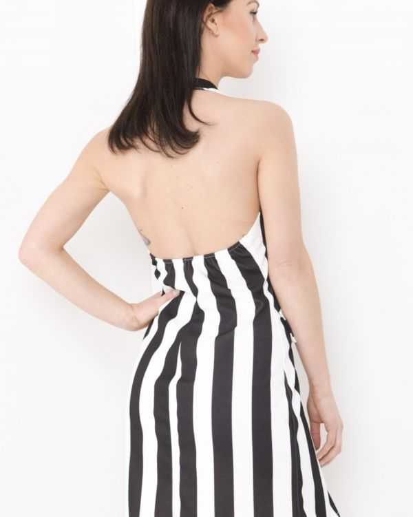 **Olivia Buckland** Norah Striped Blazer Dress In Monochrome
