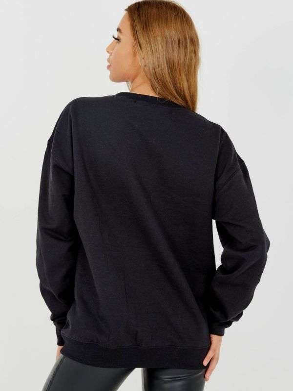 Debra Embroidered Liberte Sweatshirt Jumper In Black